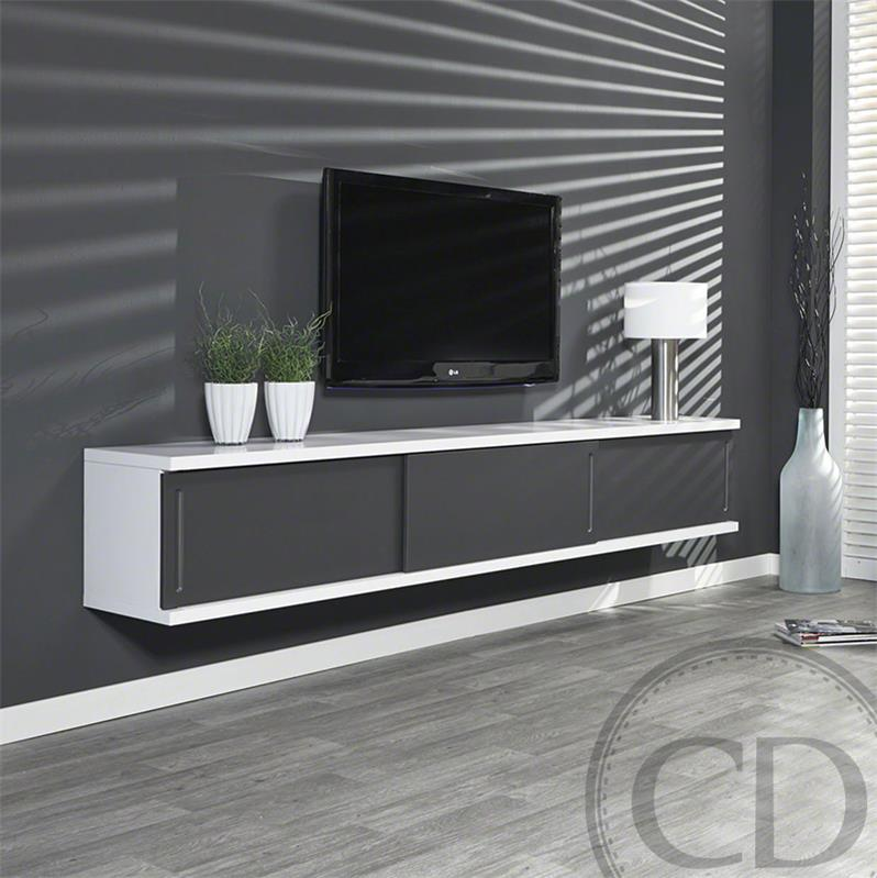 meuble tv qui s 39 accroche au mur mobilier design d coration d 39 int rieur. Black Bedroom Furniture Sets. Home Design Ideas
