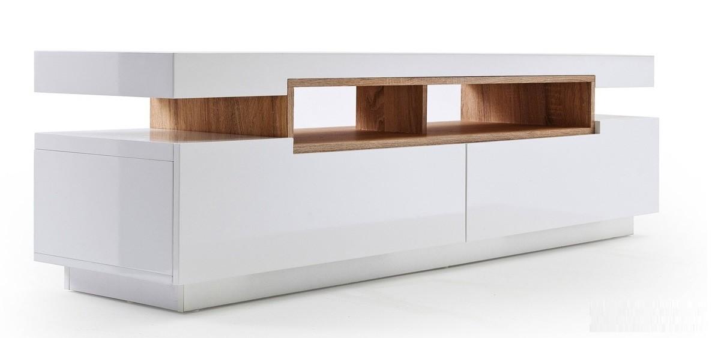 Meuble tv bois gris blanc - Mobilier design, décoration d\'intérieur