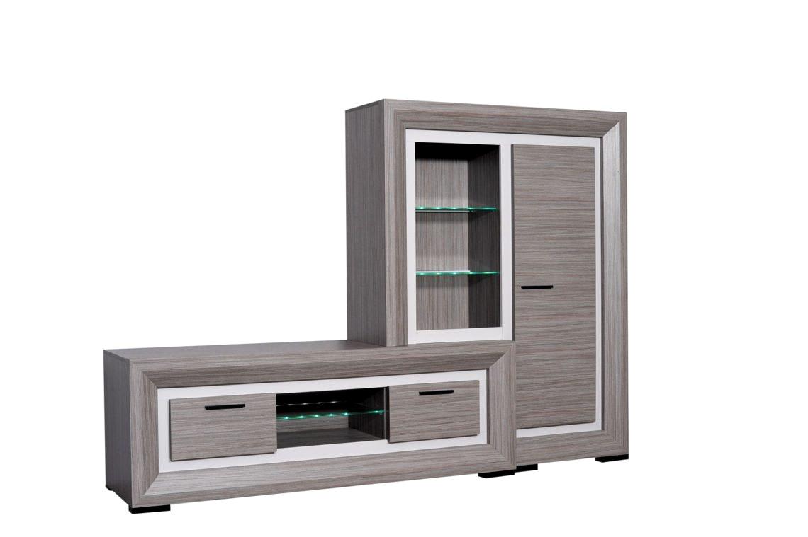 meuble tv led but - Meuble Tv Blanc Laque Led