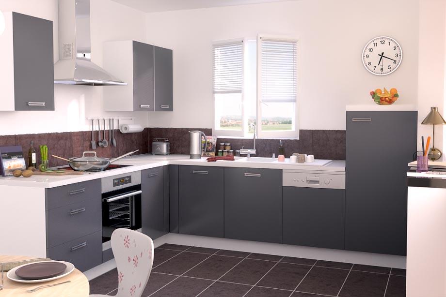 Element cuisine gris - Mobilier design, décoration d\'intérieur
