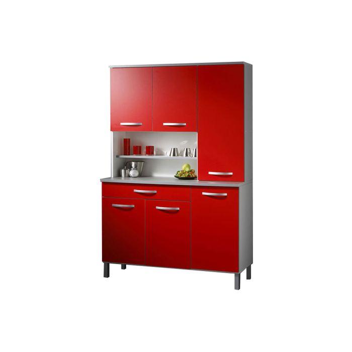 Petit meuble de cuisine rouge