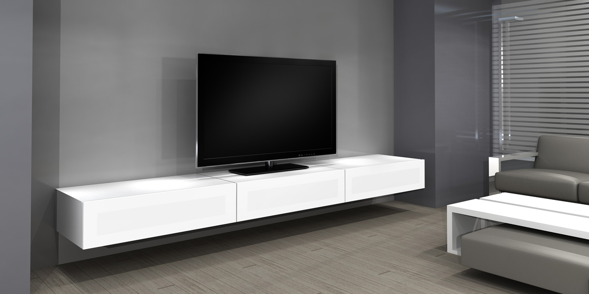 Meuble tv qui s 39 accroche au mur mobilier design for Meuble qui s accroche au mur