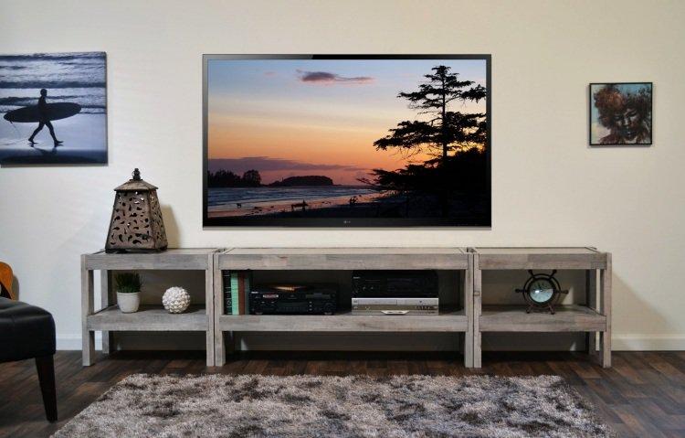 Un Meuble Tv En Palette Mobilier Design Decoration D