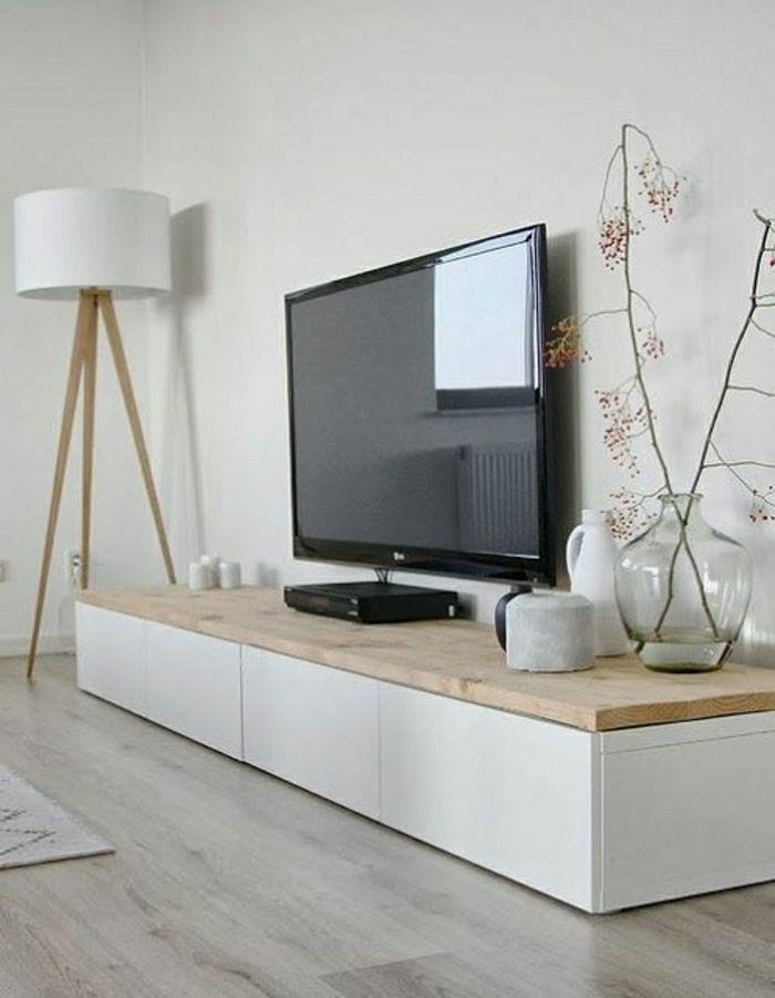 Meuble Tv Bois Blanc Mobilier Design Decoration D Interieur