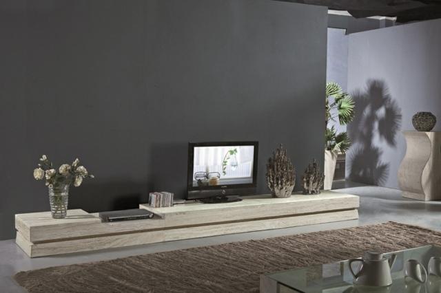 meuble tv tres long - Meuble Tv Bas Et Long Design