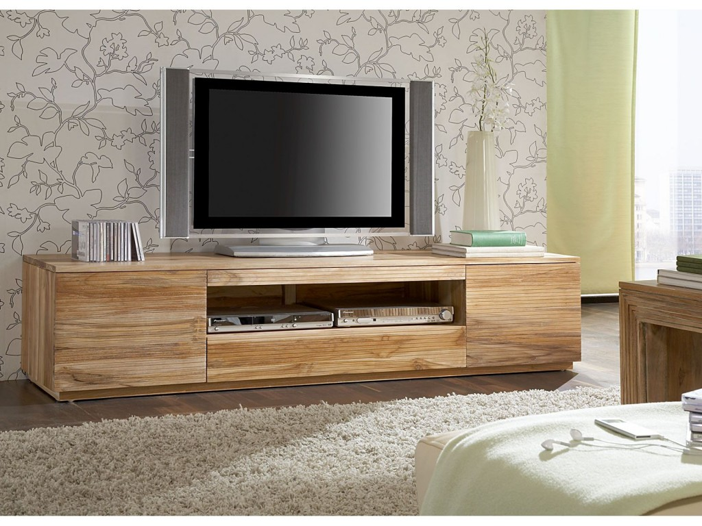 Meuble de tele en bois mobilier design d coration d for Meuble de tele design