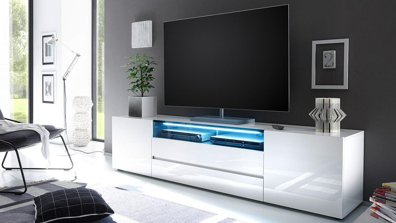 meuble tele design blanc mobilier design d coration d. Black Bedroom Furniture Sets. Home Design Ideas