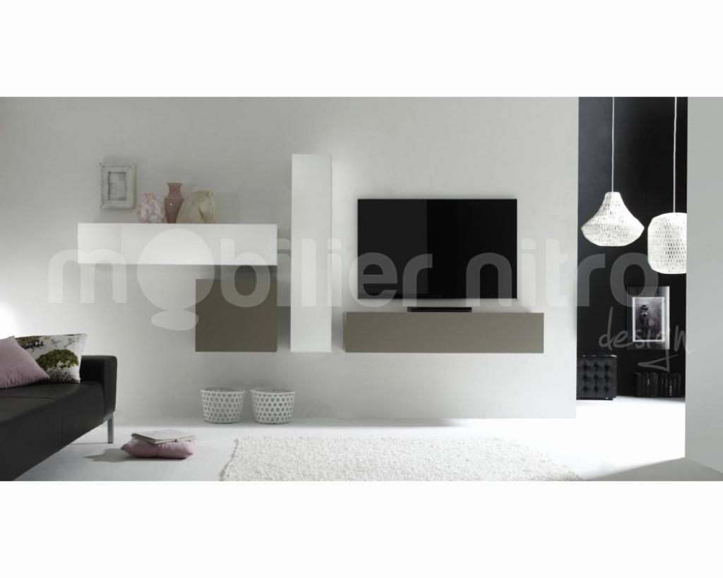 Petit Meuble Tv Mural Mobilier Design D Coration D Int Rieur # Fabriquer Un Meuble Tv Suspendu
