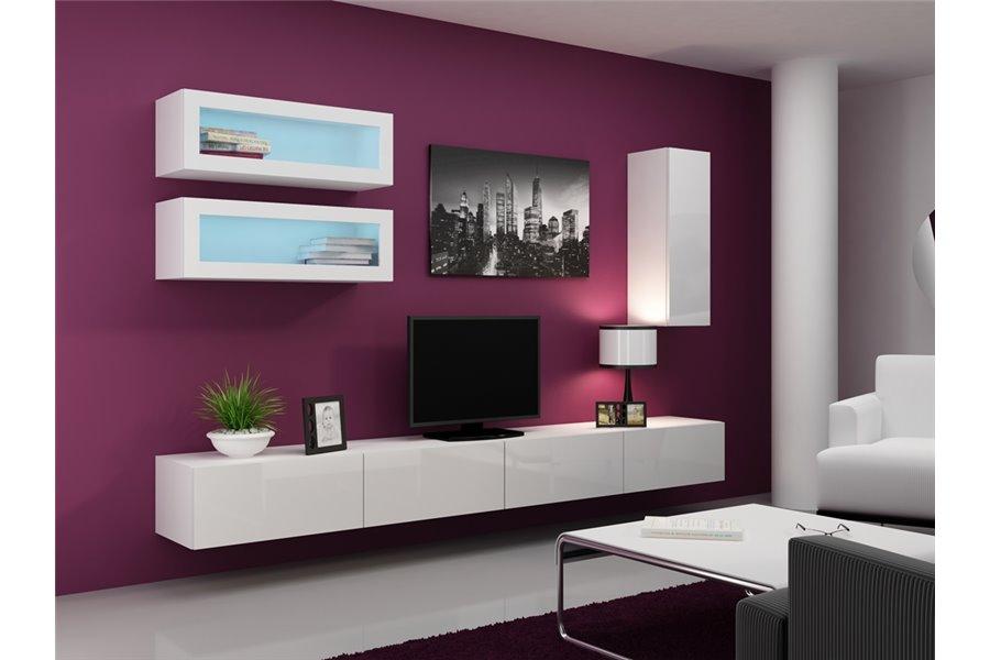 Meuble tv suspendu design mobilier design d coration d for Meuble interieur design