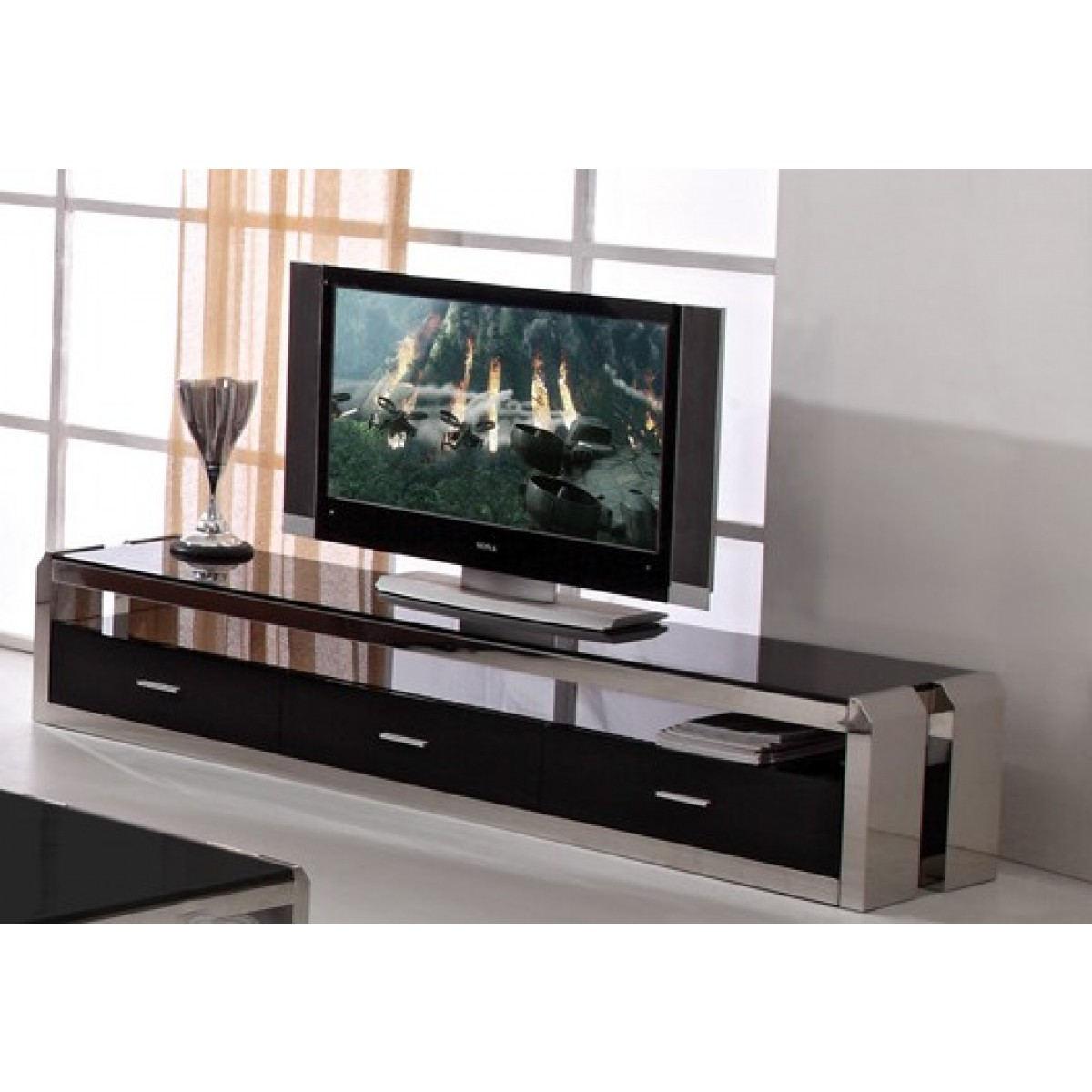 meuble tv inox mobilier design d coration d 39 int rieur. Black Bedroom Furniture Sets. Home Design Ideas