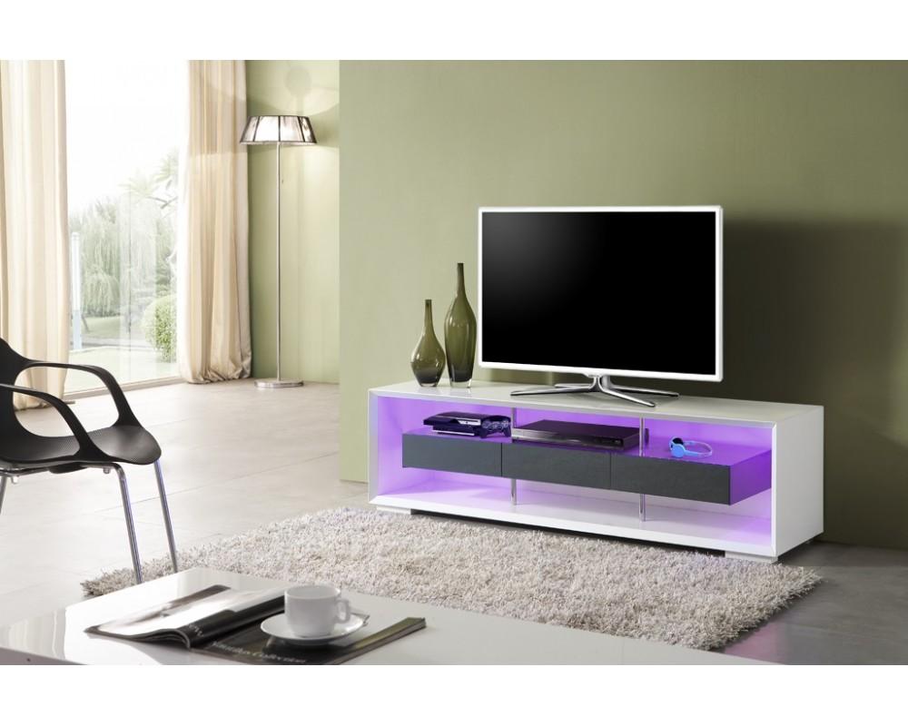Meuble Tv Design Led Mobilier Design D Coration D Int Rieur # Meubles De Tele Noir Laque