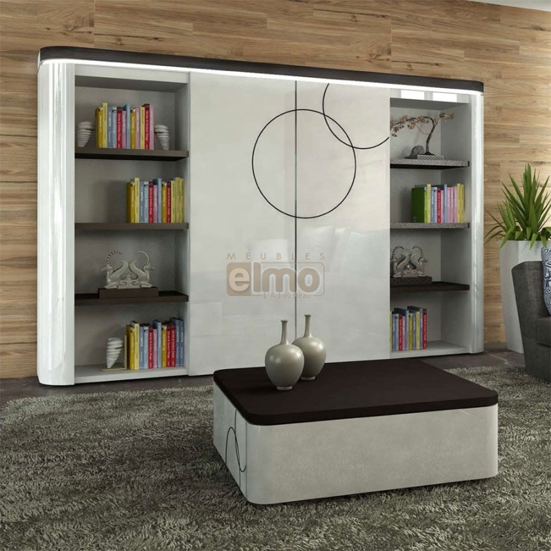 Meuble tv porte coulissante mobilier design d coration for Porte living