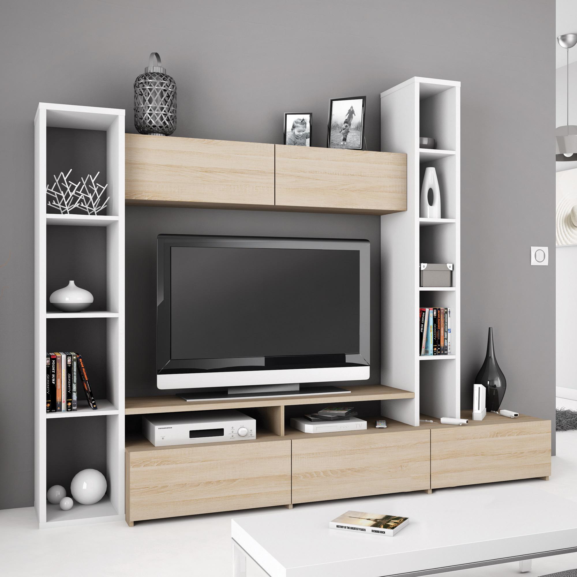 Rangement Meuble Tv Mobilier Design D Coration D Int Rieur # Deco Pour Meuble Tv