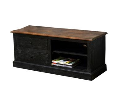Meuble tv bois et noir Mobilier design décoration d intérieur