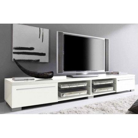 Meuble tv bas long blanc Mobilier design décoration d intérieur