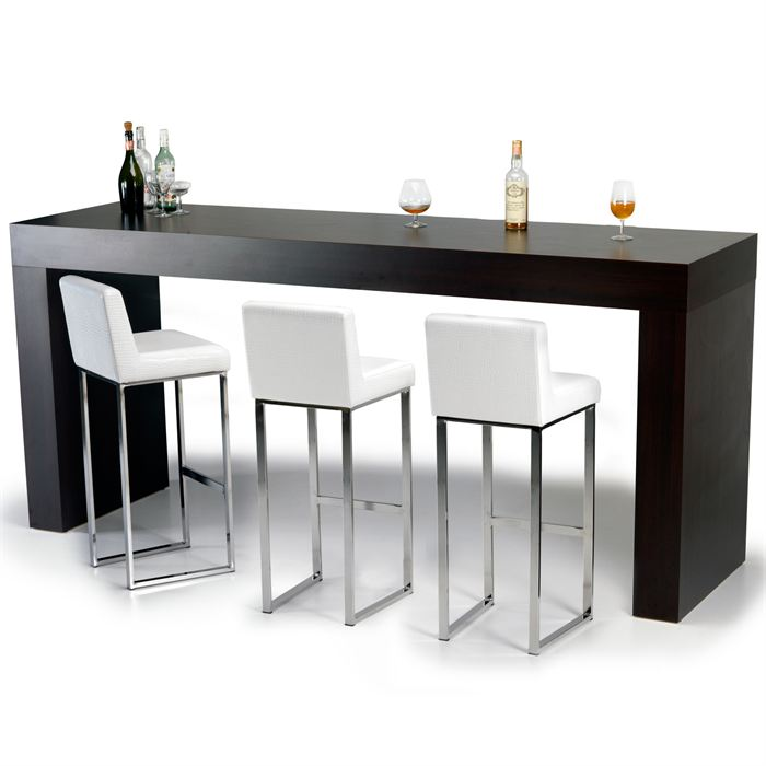 Table et chaise de bar mobilier design d coration d for Table de bar haute but
