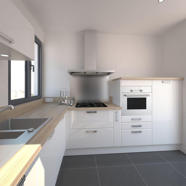 Porte de cuisine blanche mobilier design d coration d for Mobilier cuisine design