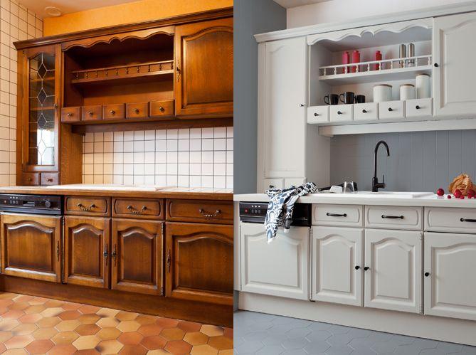 meuble de cuisine a peindre mobilier design d coration. Black Bedroom Furniture Sets. Home Design Ideas