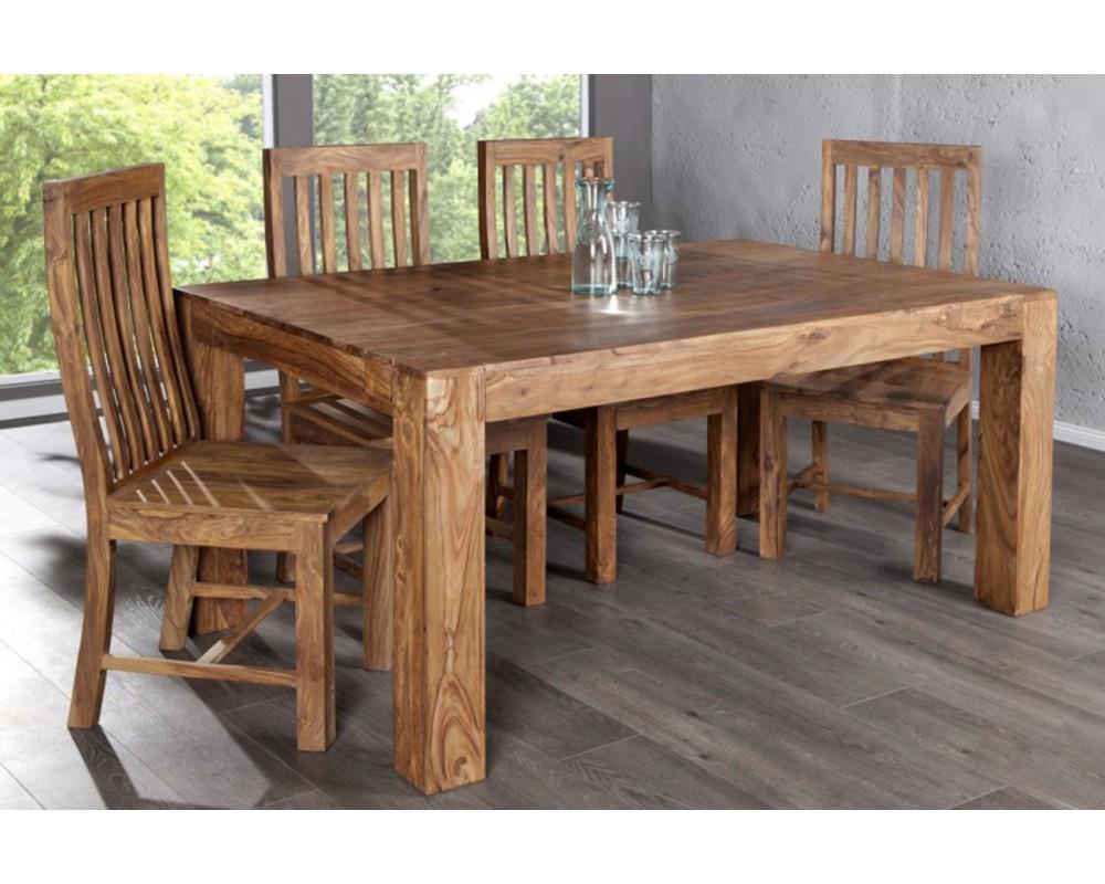 Table en bois brut mobilier design d coration d 39 int rieur for Table salle manger bois brut