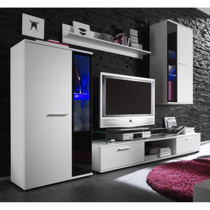 meilleure sélection b3a35 b8789 Cdiscount meuble tv mural blanc laque - Mobilier design ...