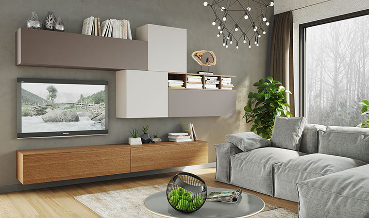 meuble tv bois suspendu mobilier design d coration d. Black Bedroom Furniture Sets. Home Design Ideas