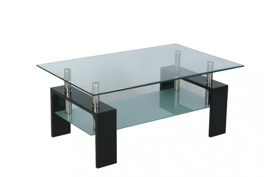 Table basse de salon en verre mobilier design - Table italienne en verre ...