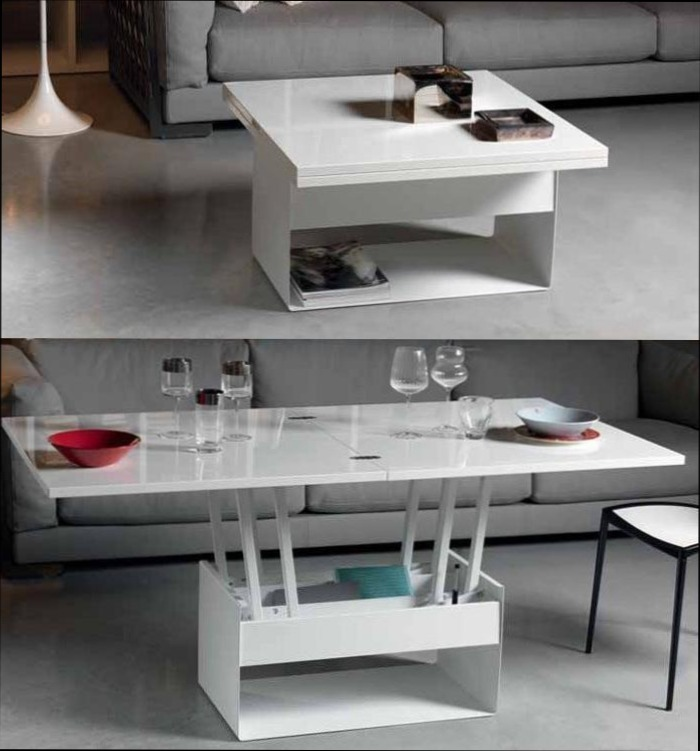 Table basse qui se transforme en table haute mobilier for Meuble qui se transforme