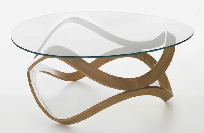 Table Basse Verre Et Bois Mobilier Design Decoration D