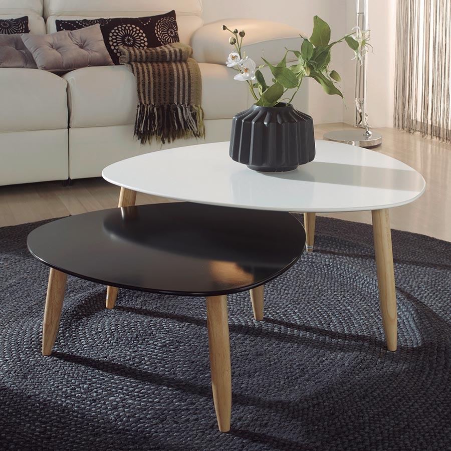 Table Basse Scandinave Gigogne.Table Basse Scandinave Gigogne Mobilier Design Decoration