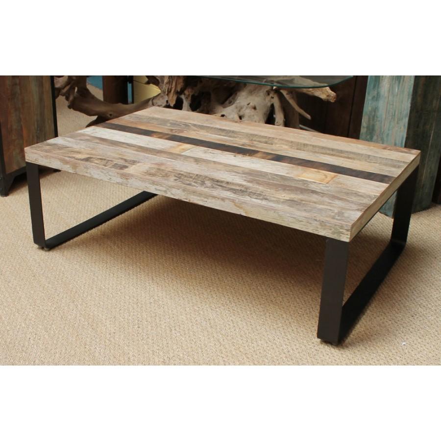 table basse metal et bois mobilier design d coration d 39 int rieur. Black Bedroom Furniture Sets. Home Design Ideas