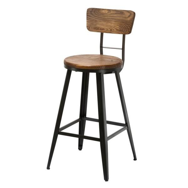 tabouret haut pas cher free tabouret de bar avec dossier. Black Bedroom Furniture Sets. Home Design Ideas