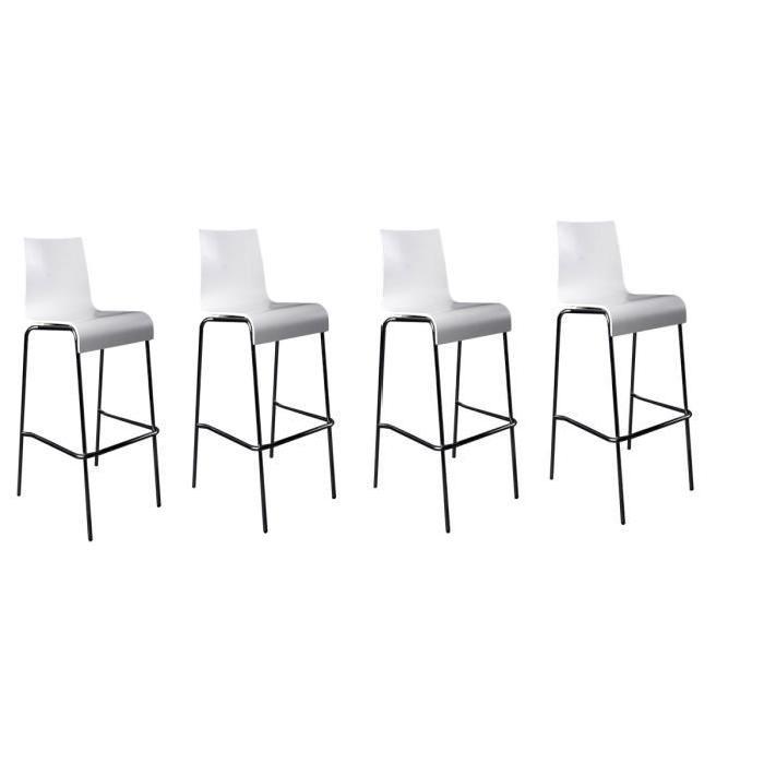 tabouret de bar 4 pieds cdiscount mobilier design. Black Bedroom Furniture Sets. Home Design Ideas