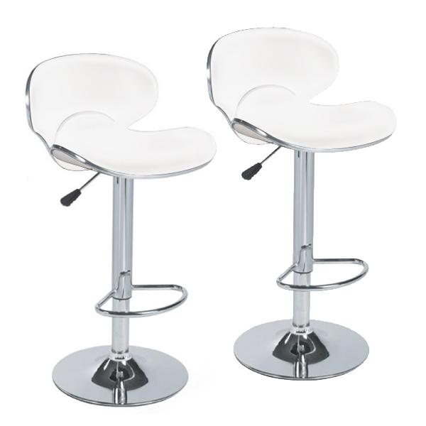 lot de 2 tabouret de bar blanc pas cher mobilier design d coration d 39 int rieur. Black Bedroom Furniture Sets. Home Design Ideas