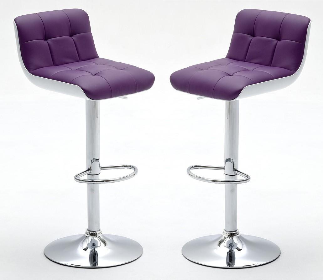 Tabouret bar violet