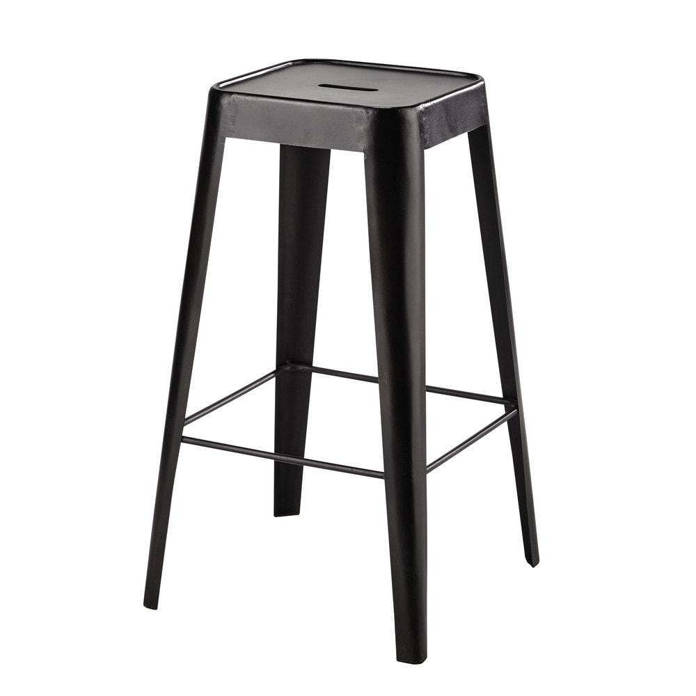 Chaise de bar metal noir