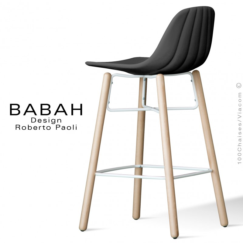tabouret de bar 4 pieds inox mobilier design d coration d 39 int rieur. Black Bedroom Furniture Sets. Home Design Ideas