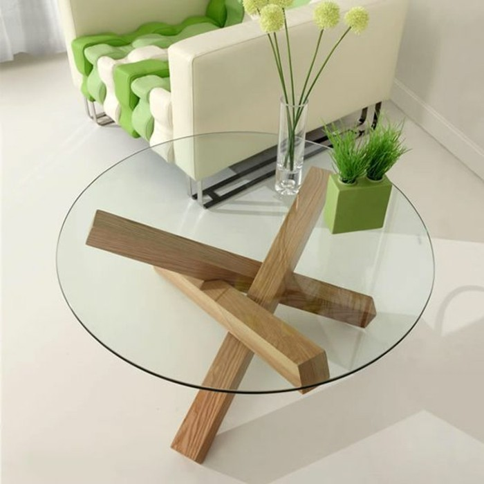 Petite table basse pied bois