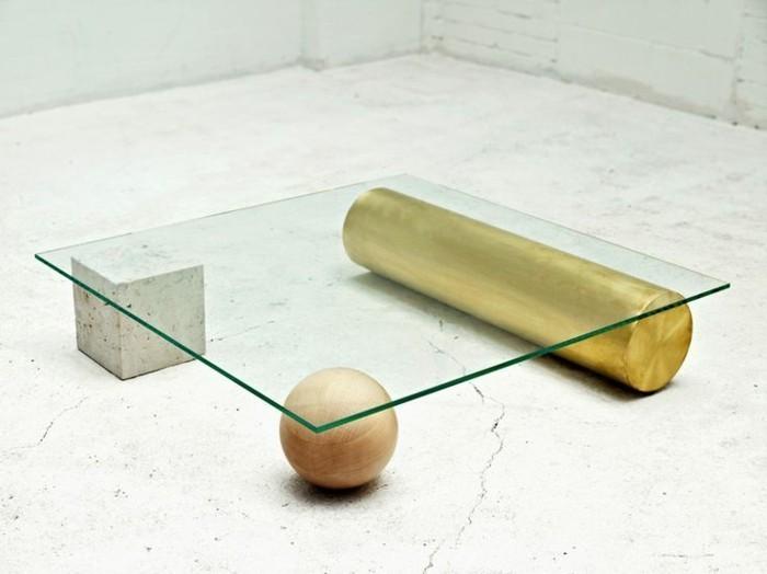 Table basse en verre pas cher
