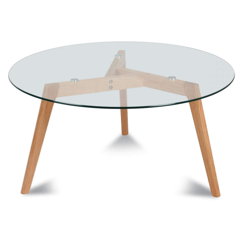 Table basse gigogne scandinave verre