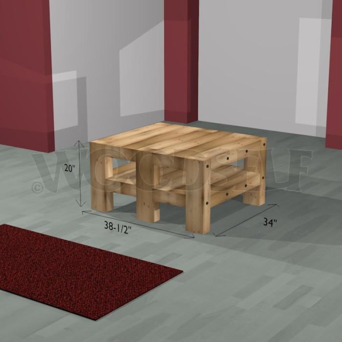 Table basse bois plan