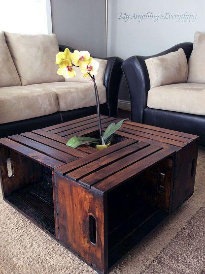 Idee table basse bois