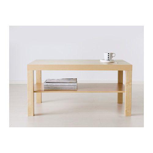 Table basse ikea lack bouleau