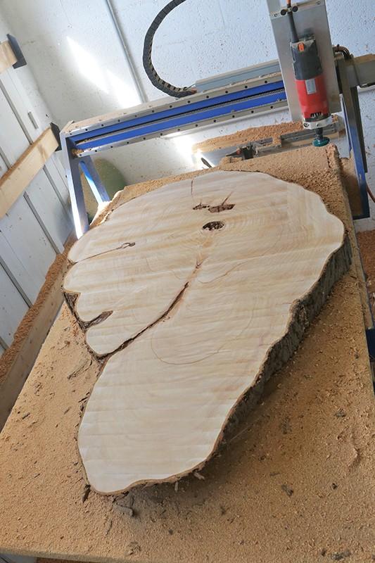Table basse bille de bois