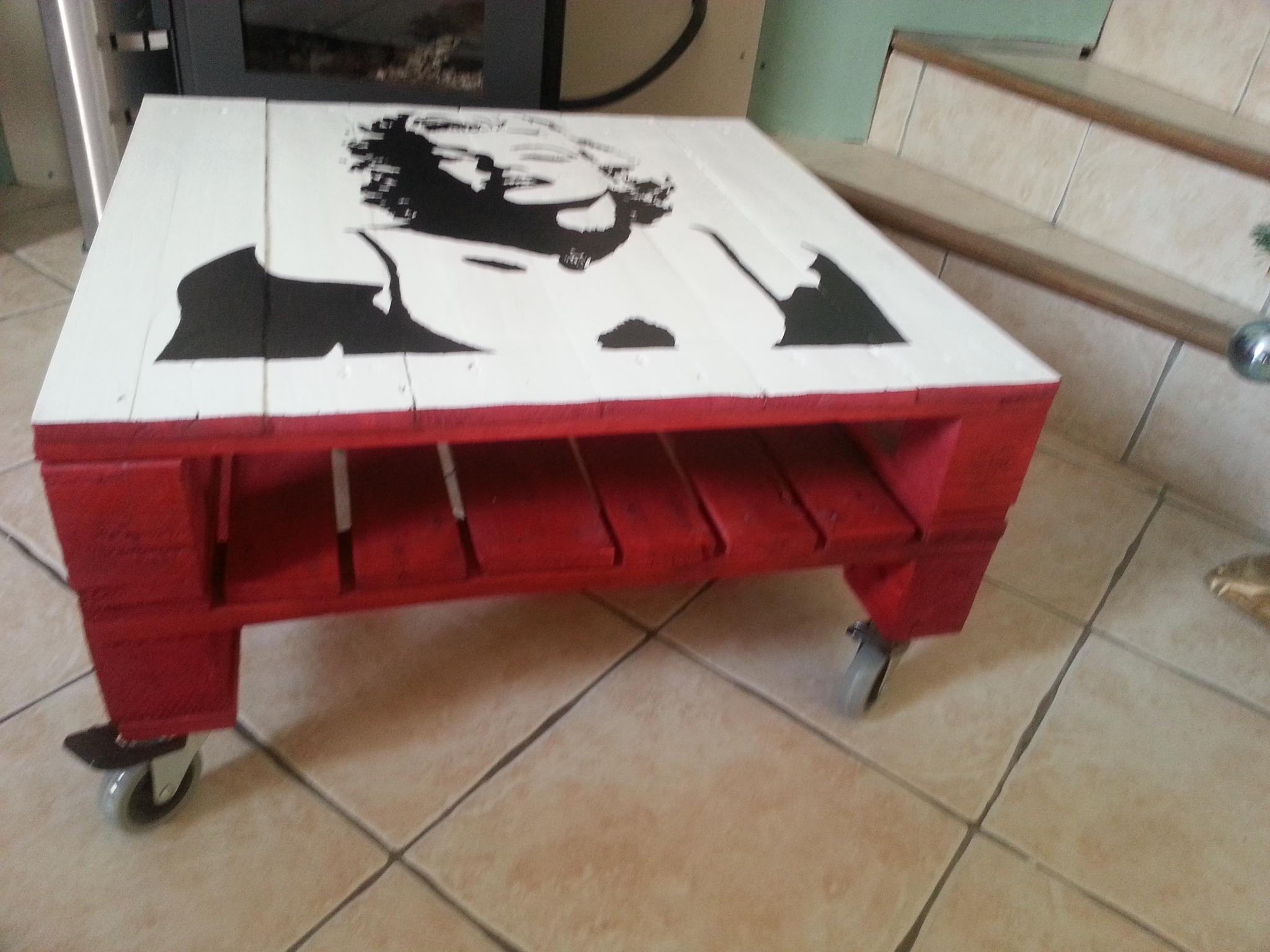 Peinture table basse palette