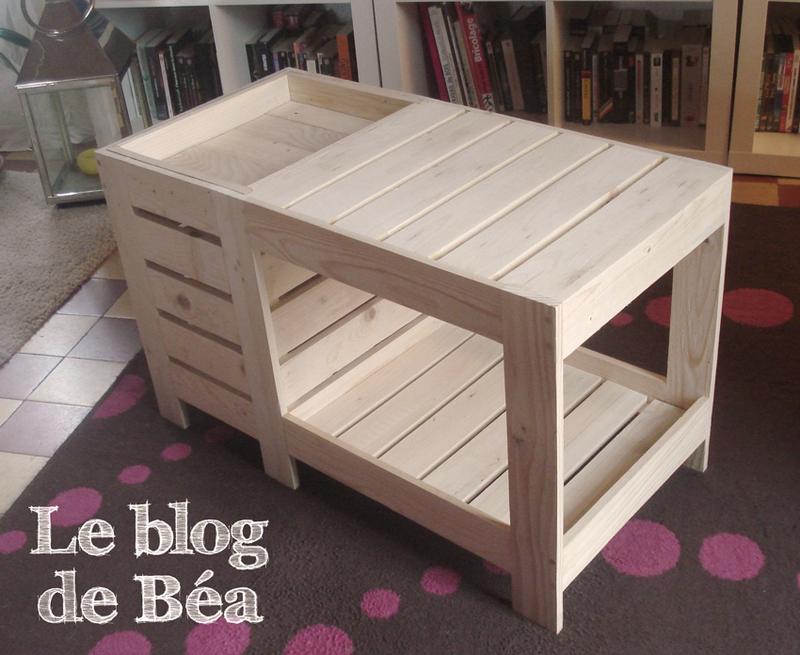 Fabriquer une table basse avec rangement