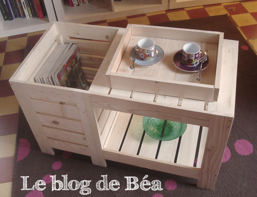 Table basse palette blog de bea