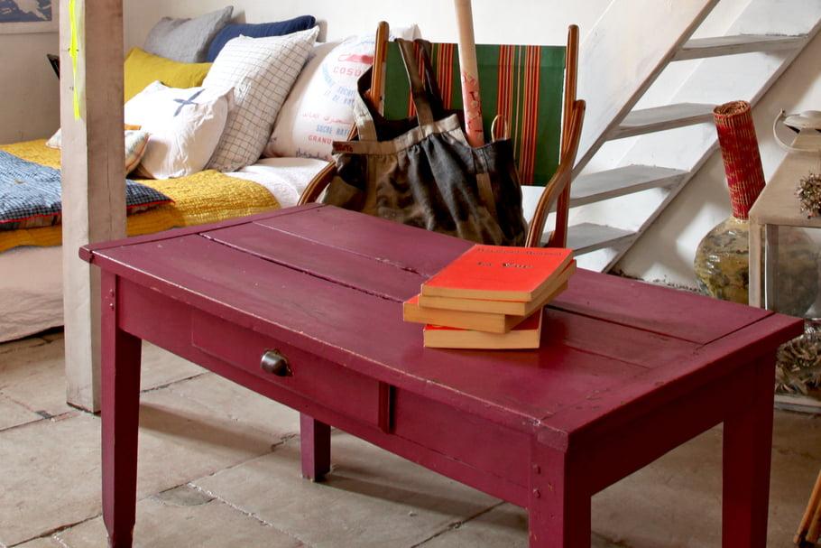 Renover table basse bois massif