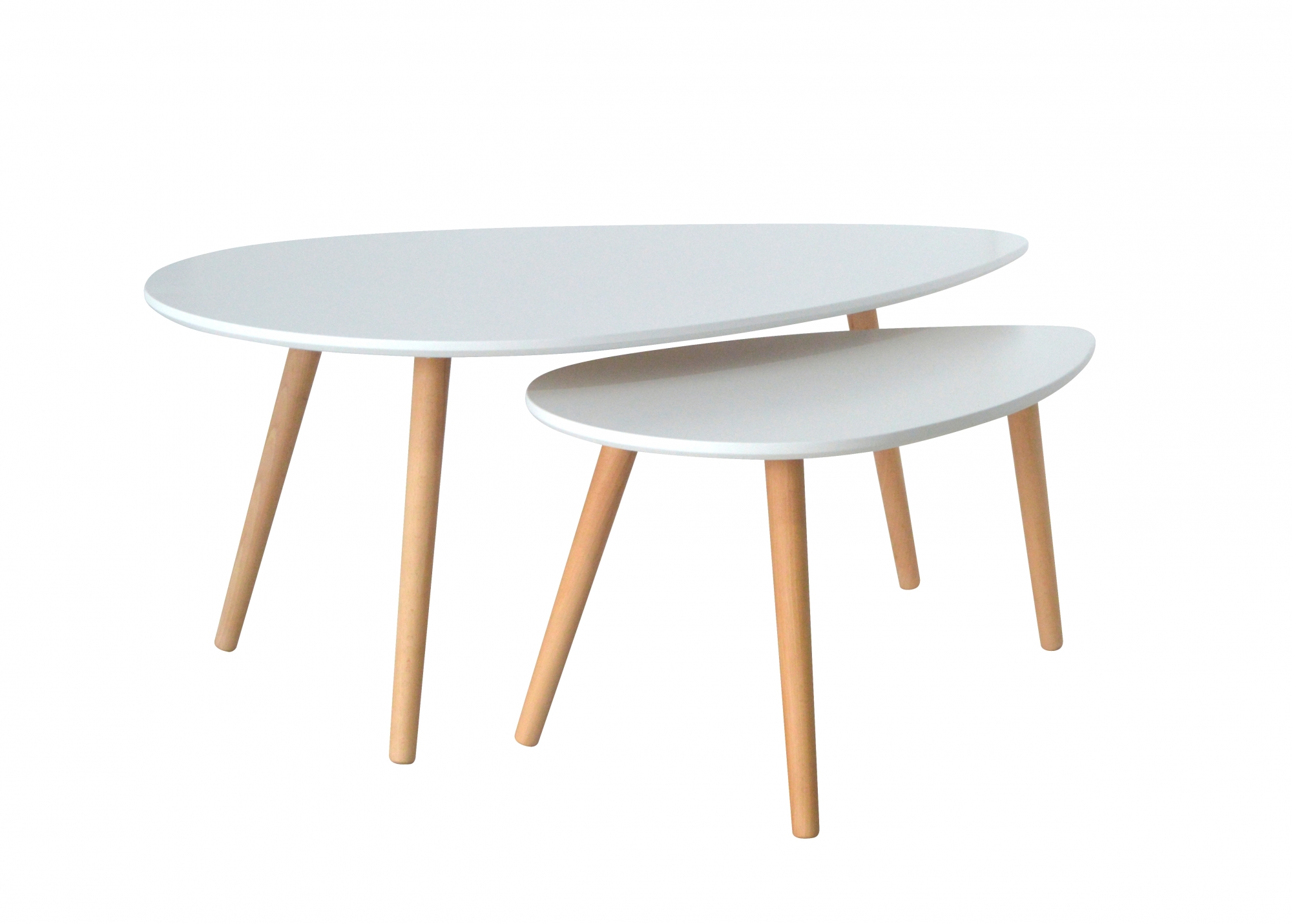 Table basse scandinave blanche - spring