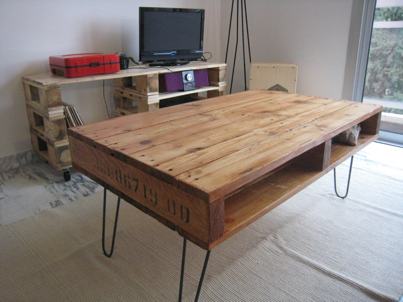 Table basse palette commande