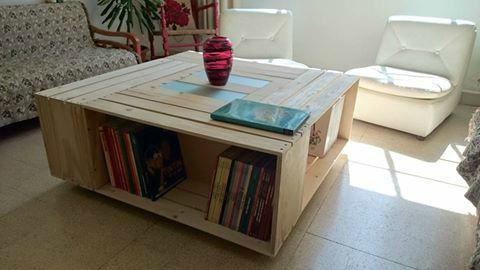 Caisse bois table basse